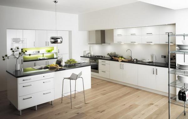 Kitchen set serba putih